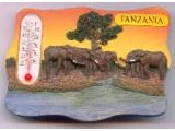 9004-002TZ Elephant Scenery Thermometer
