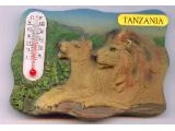 9004-005TZ Lion Lioness Thermometer