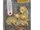 9004-001UG Leopard & Cubs Thermometer