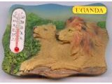 9004-005UG Lion Lioness Thermometer